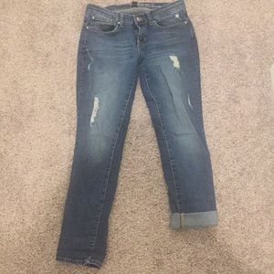 Gap skinny rolled up jean size 26